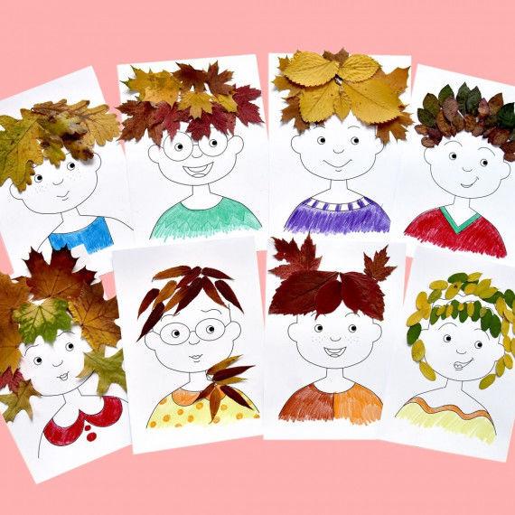 Witzige Blätter-Frisuren - Übersicht