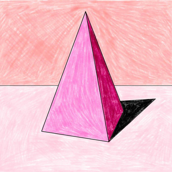 Licht & Schatten - Pyramide mit Schattierungen ausmalen