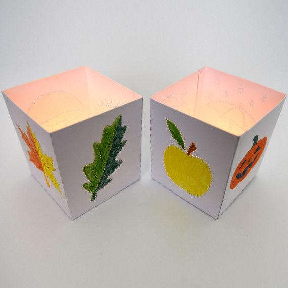 Herbst-Leuchten prickeln & basteln