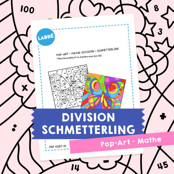 Homeschooling - Pop-Art – Mathe Division: Schmetterling PDF