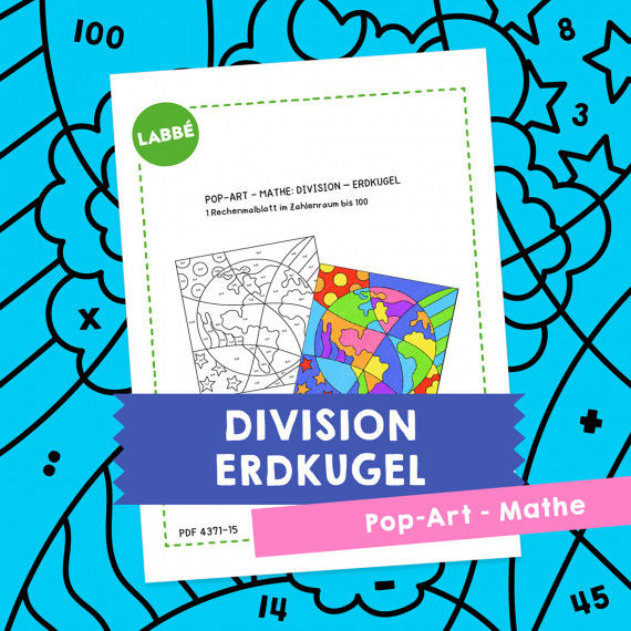 Homeschooling - Pop-Art – Mathe Division: Erdkugel PDF