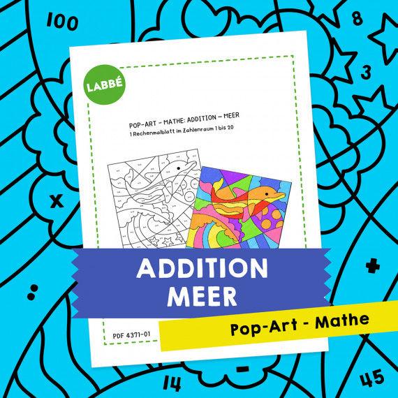 Pop-Art – Mathe Addition: Meer