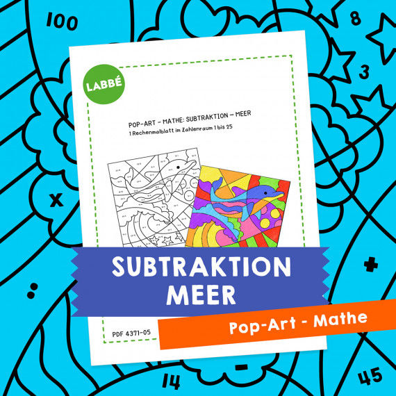 Homeschooling - Pop-Art – Mathe Subtraktion: Meer