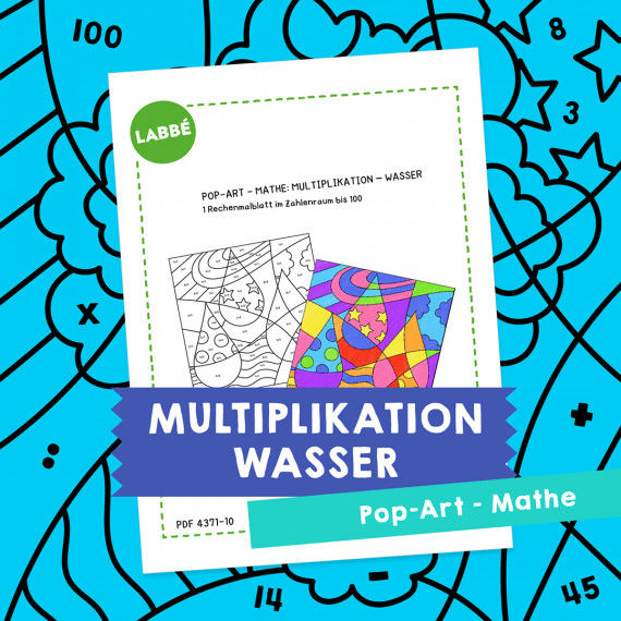 Homeschooling - Pop-Art – Mathe Multiplikation: Wasser PDF