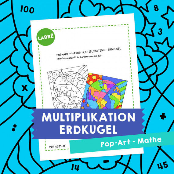 Homeschooling - Pop-Art – Mathe Multiplikation: Erdkugel