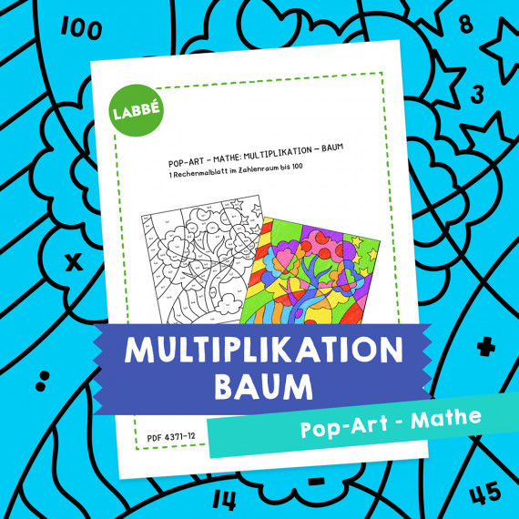 Homeschooling - Pop-Art – Mathe Multiplikation: Baum PDF