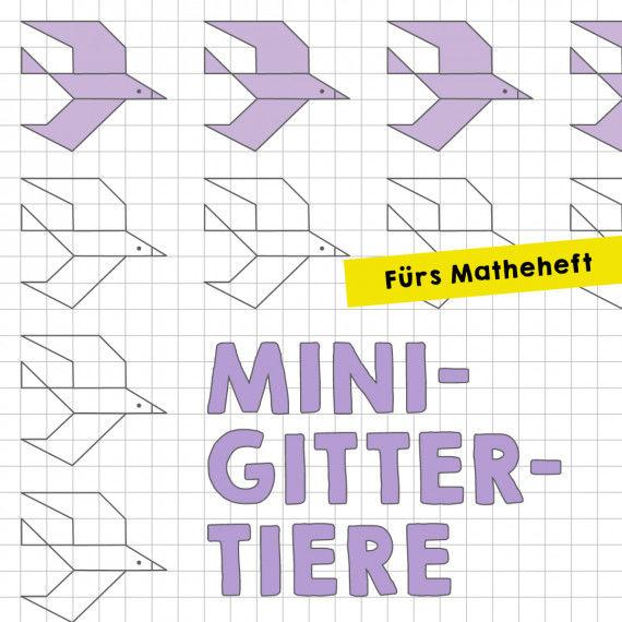 Mini-Gittertiere für das Matheheft
