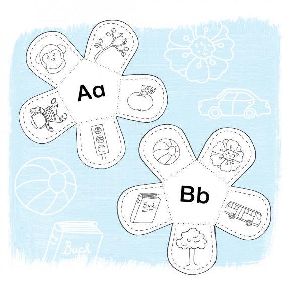 Gratis Lernblumen-Vorlagen - A und B