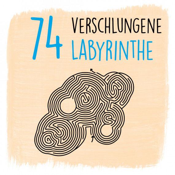 74 Labyrinthe und Lösungen