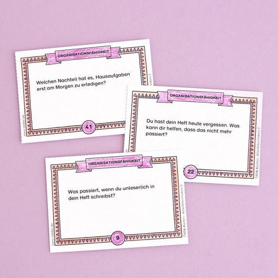 Impulskarten aus dem Karten-Set Arbeitstechniken - Organisationsfähigkeit