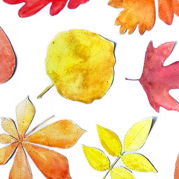Ausgemalt sehen die Blätter noch schöner aus!
