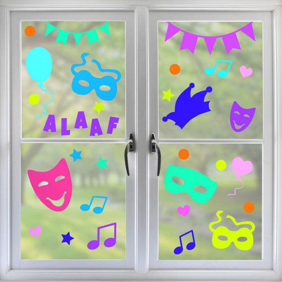Fensterbild Karneval und Fasching