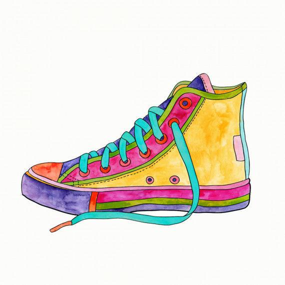Ausgemalter Sneaker