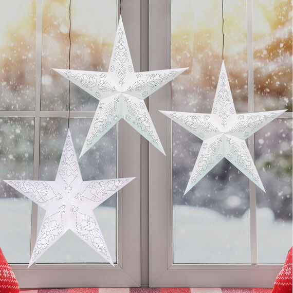 Fenster-Prickelsterne basteln