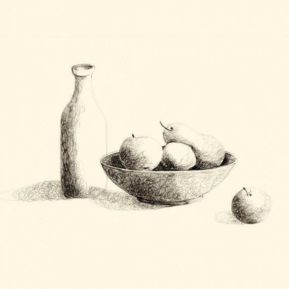 Stillleben - Vorlagen zum Arbeiten mit Schattierung