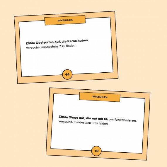 TASK-Karten mit Aufgaben zum Aufzählen