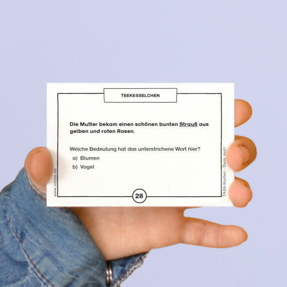 TASK-Karten: Denk mal! Teekesselchen