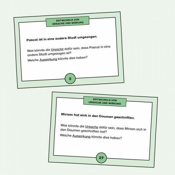 Aufgabenkarten zum Entwickeln von Ursache und Wirkung