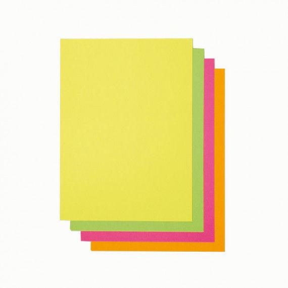Druckerpapier, 40 Blatt, neonfarben