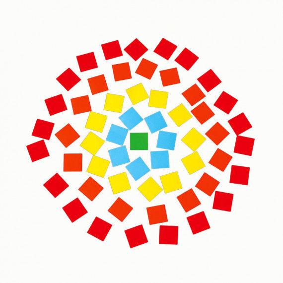 Mosaiksteinchen aus gummiertem Glanzpapier zum Kleben von Mosaiken