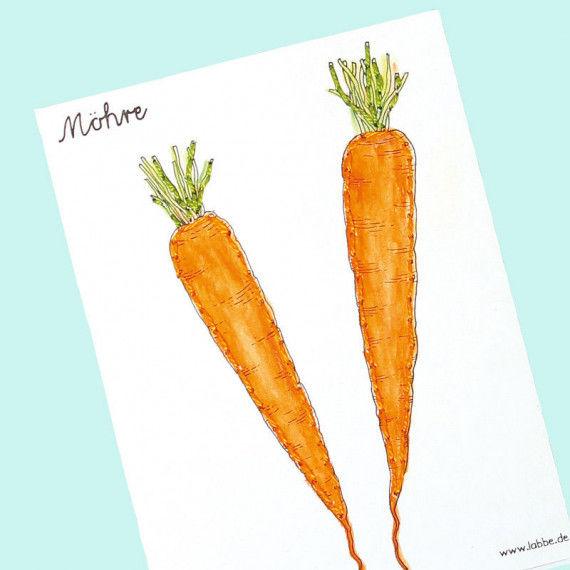 Karten zum Sticken von 16  Gemüsesorten