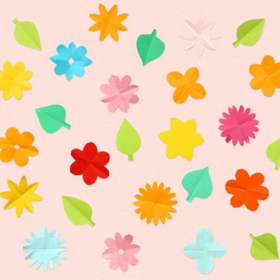 Viele bunte Schnibbelblümchen