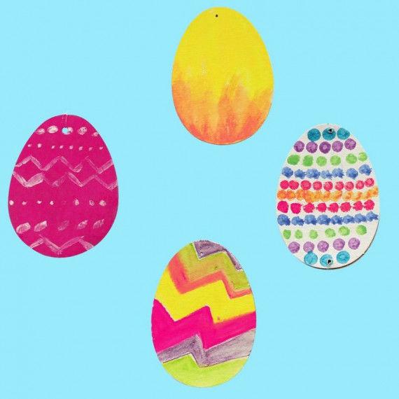 Vorgestanzte Eier zum freien Gestalten