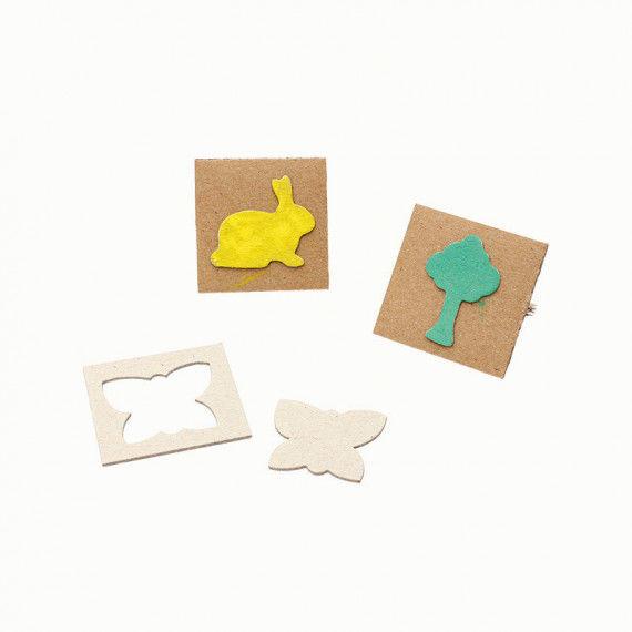 Kartonstempel Tiere & Pflanzen, Sonderangebot