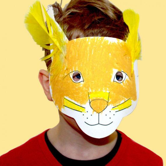 Vorgestanzte Waldtiermasken