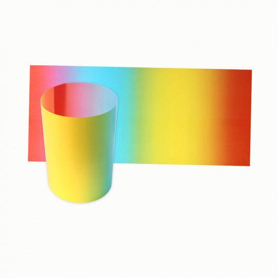 Regenbogen-Pergament, 25 Bogen, 22 x 51 cm