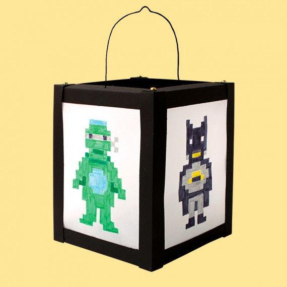 Pixel-Helden Laterne