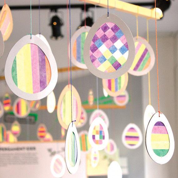 Pergament-Eier zum Gestalten und Aufhängen