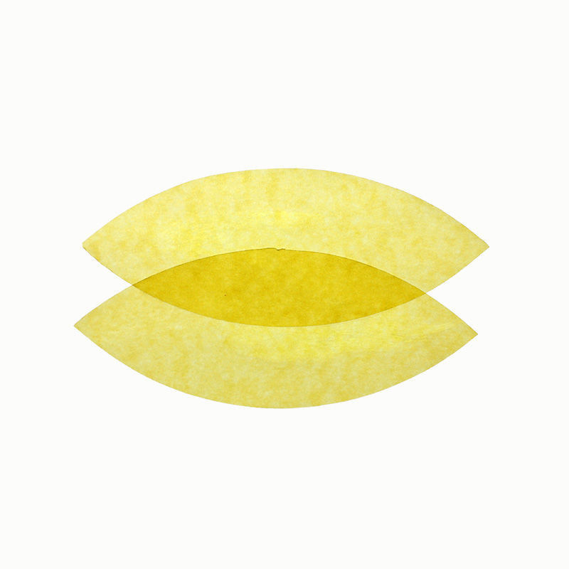 Transparentpapier, 25er Pack, gelb