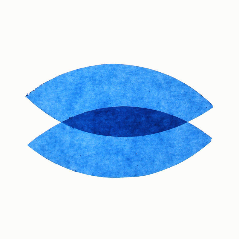 Transparentpapier, 25er Pack, blau