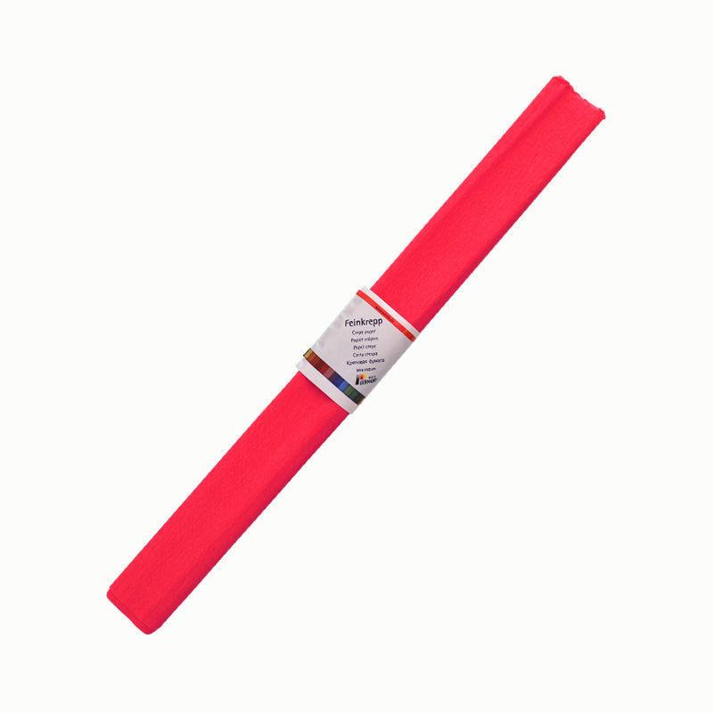 Krepppapier, einzeln, rot