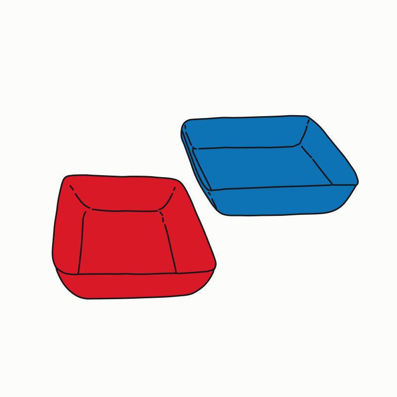 Materialschalen aus robustem Kunststoff