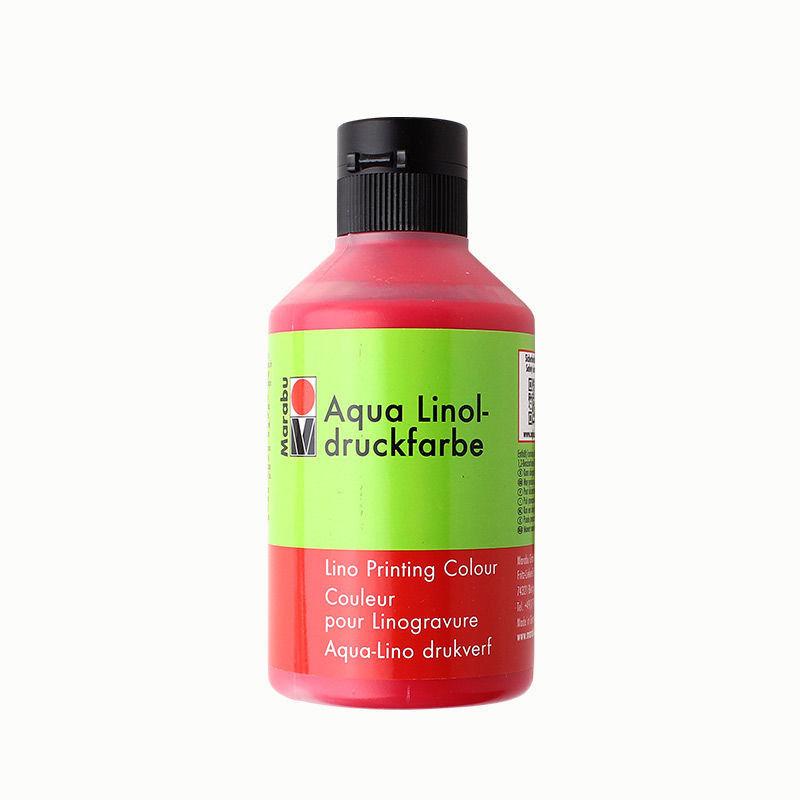 Linoldruckfarbe 250 ml, karminrot