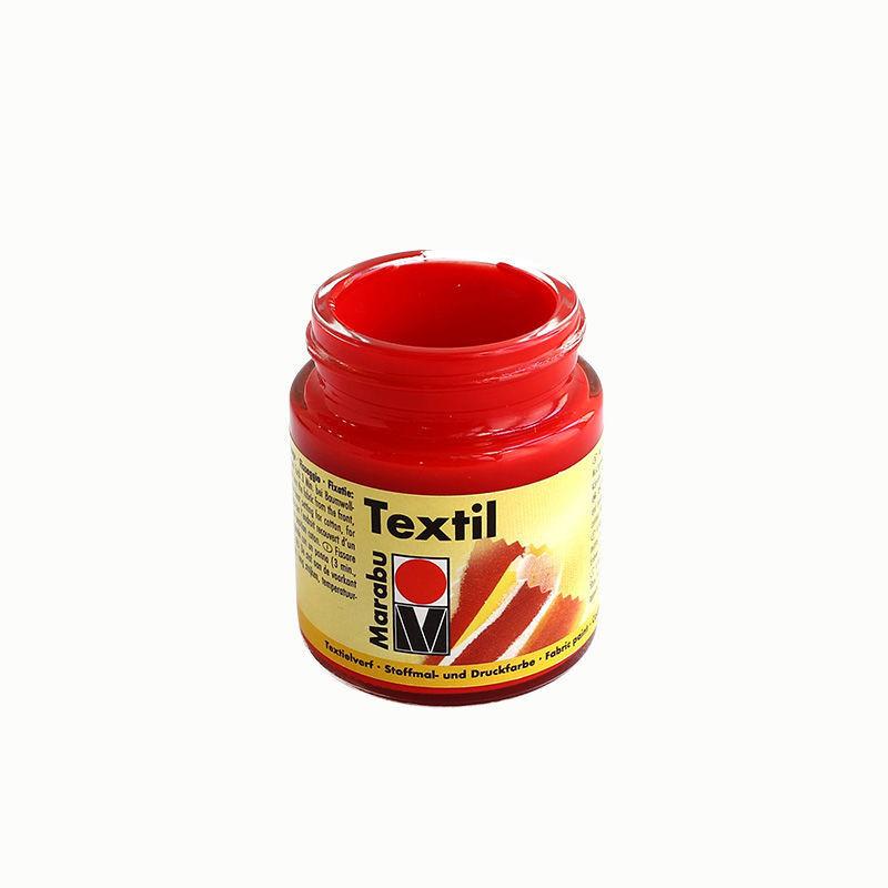 Stoffmalfarbe 50 ml, korallenrot