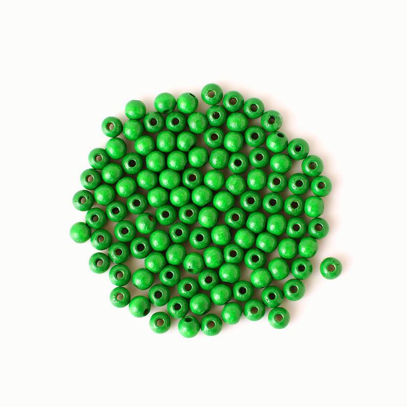 Holzperlen 6 mm, grün