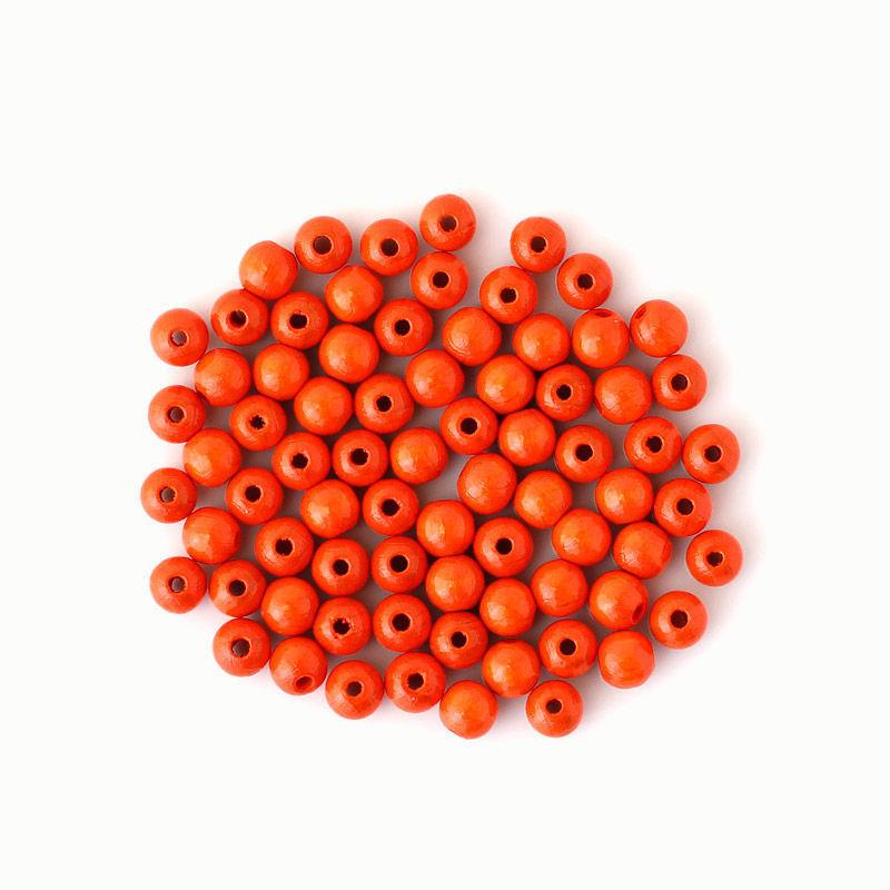 Holzperlen 8 mm, orange
