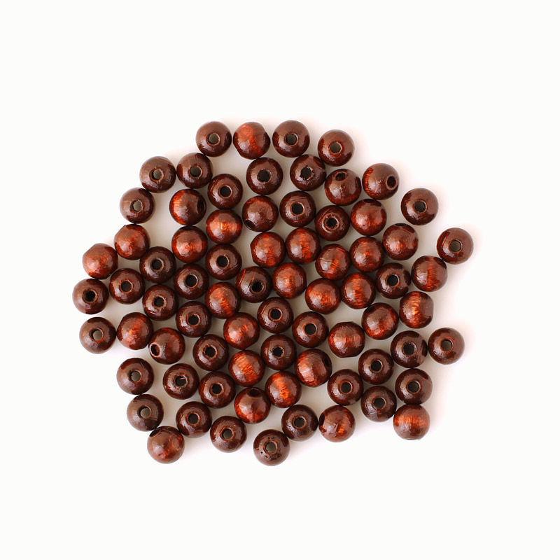 Holzperlen 8 mm, braun