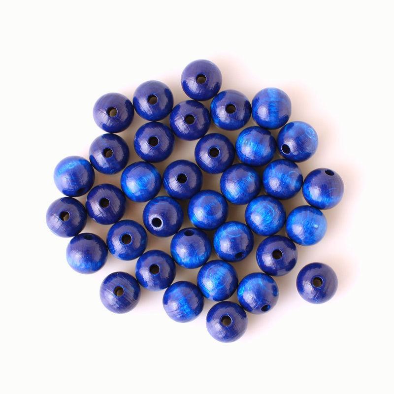 Holzperlen Ø 12 mm - blau
