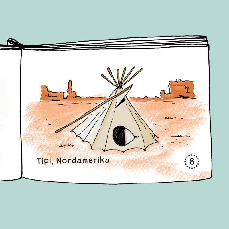 """Mini-Buch """"Wohnen früher"""" zum Ausmalen"""