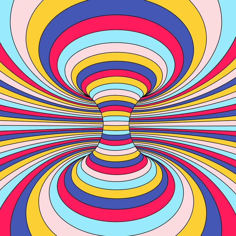 Op-Art Illusionen zum Ausmalen