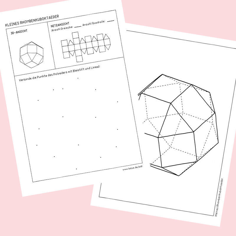 geometrische k rper polyeder pdf basteln malen lernen spielen labb. Black Bedroom Furniture Sets. Home Design Ideas