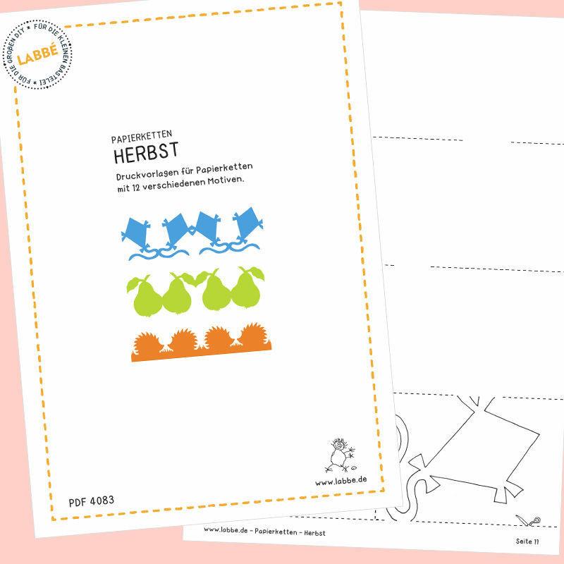 Papierketten  Herbst PDF  Durch das Jahr  Saisonales
