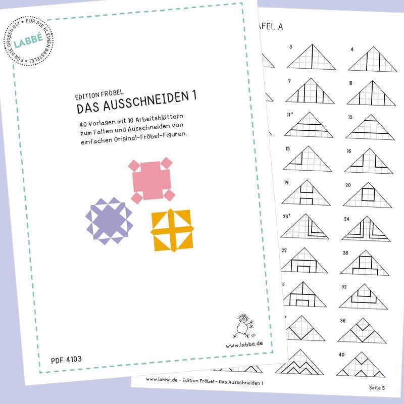 Pdf Seiten Ausschneiden : edition fr bel das ausschneiden 1 pdf basteln malen lernen spielen labb ~ Orissabook.com Haus und Dekorationen