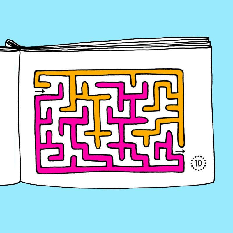 Unterhaltsame Mini-Bücher mit Aktivitäten für die kleine Pause