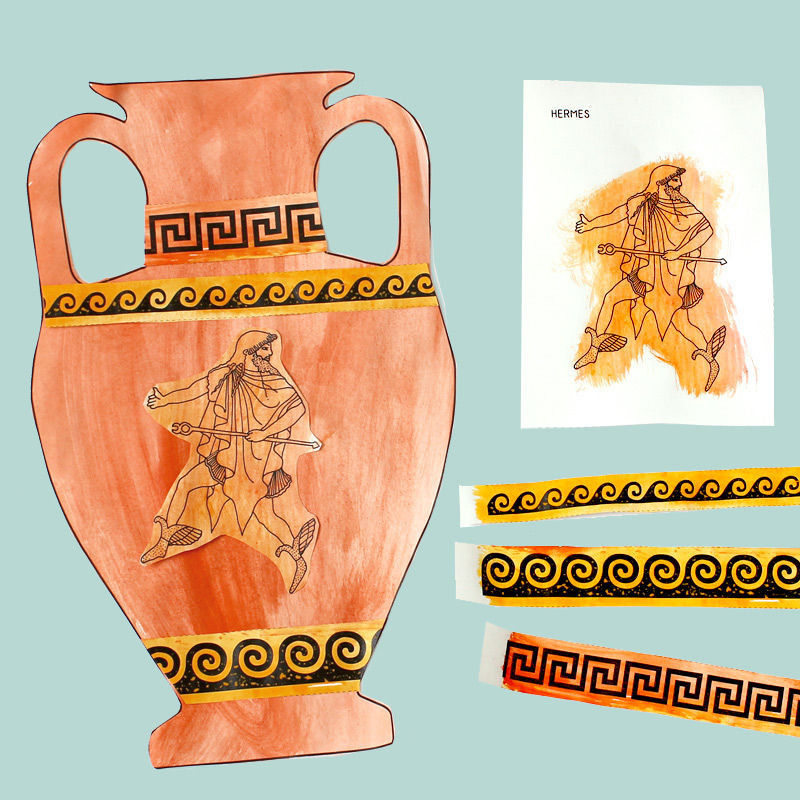 Griechische Götter & Vasen zum Ausschneiden & Bemalen