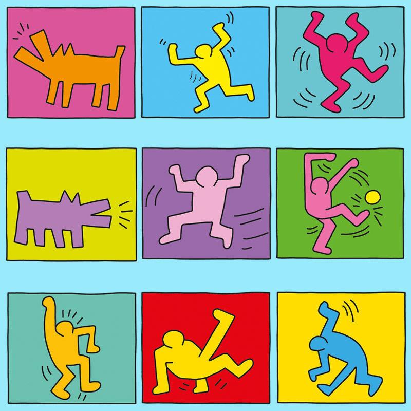 Gruppenbild nach Keith Haring - ein tolles Projekt für den Kunst Unterricht